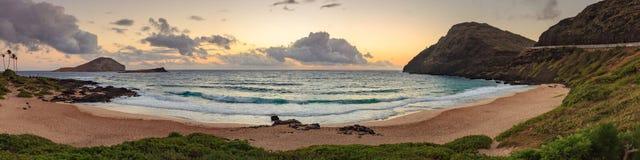 Makapu& x27; paisaje del parque de la playa de u Imagen de archivo