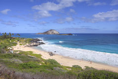 Makapu`u Beach overlook on sunny day Stock Photos