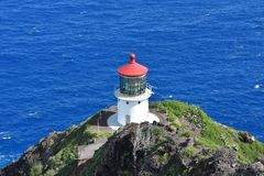 Makapu ` u latarnia morska hawaii Oahu Zdjęcie Royalty Free