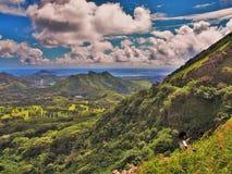 Makapu'u Windward Oahu. The rugged Koolau Mountains from the Pali Lookout along the windward side of Oahu, Hawaii, USA Stock Photography