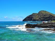 Makapu'u windzugewandtes Oahu stockbild