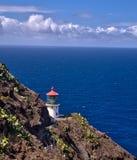 Makapuu在奥阿胡岛,夏威夷的点灯塔 免版税库存照片