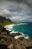 Makapuu Beach from the lookout, Oahu, Hawaii Stock Photo
