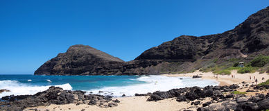 Makapuu Beach Panoramic Royalty Free Stock Photos