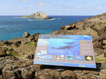 Makapuu Humpback Whale Sanctuary. And Rabbit Island Stock Photos