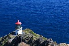 Makapuu Lighthouse on Ohau Island in Hawaii Stock Images