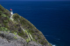 Makapuu Lighthouse on Ohau Island in Hawaii Stock Photo