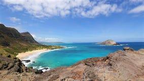 Makapuu Lookout Oahu, Hawaii stock video footage