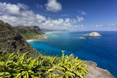 Makapuu Point Lookout, Oahu. View from the Makapuu Point Lookout, Oahu, Hawaii Royalty Free Stock Photo
