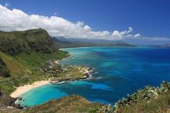 Tropical Paradise, Makapuu Beach Park, Oahu, Hawaii. Royalty Free Stock Photo