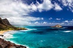 Makapuu strand, Oahu Arkivfoton