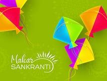 Makar Sankranti wakacyjny projekt z kaniami zdjęcia stock