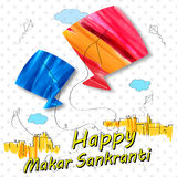 Makar Sankranti wallpaper with colorful kite for festival of India Royalty Free Stock Photo