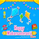 Makar Sankranti wallpaper with colorful kite Royalty Free Stock Photography