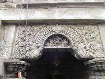 Makar torana sculpture. Place - aishwareshwar temple,sinnar in India stock image