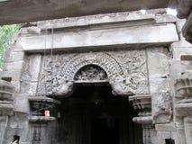 Makar torana sculpture. Place - aishwareshwar temple,sinnar in India stock photo