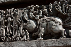Makara: A Chimera. An Indian chimera called Makara. Mouth of a crocodile, body of an elephant, and legs of a lion Royalty Free Stock Photography