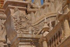 Makara sea serpent on Ananda Phaya Royalty Free Stock Photos