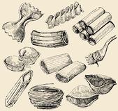 makaronów kształty Zdjęcie Stock