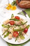 makaronów rybi warzywa Obraz Stock