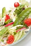 makaronów rybi warzywa Obraz Royalty Free