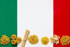 Makaronów włoscy składniki Obraz Royalty Free