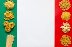 Makaronów włoscy składniki Fotografia Royalty Free
