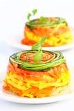 makaronów warzywa Obraz Royalty Free
