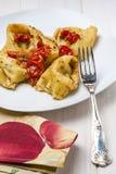 Makaron Agnolotti Faszerujący Rybi Pomidorowy Pachino Zdjęcie Royalty Free