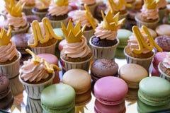 Makaron de los pasteles franceses Foco selectivo Fotografía de archivo libre de regalías