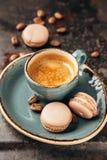 Makaron en koffie stock foto