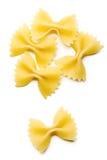 makaron farfalle fotografia stock