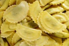 Makaron faszerował z szpinaka i ricotta serem na bielu Zdjęcie Royalty Free