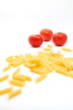 Makaron i pomidor Obrazy Stock
