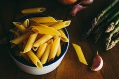 Makaron i warzywa zdjęcie stock
