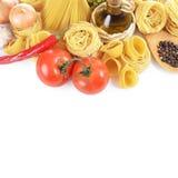 Makaron z pikantność i warzywami obrazy stock