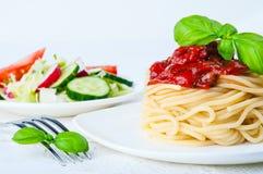 Makaron z pomidorowym kumberlandem Zdjęcie Stock
