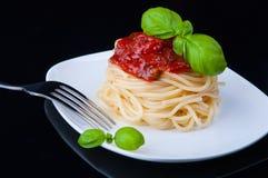 Makaron z pomidorowym kumberlandem Obrazy Stock