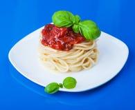 Makaron z pomidorowym kumberlandem Zdjęcia Royalty Free