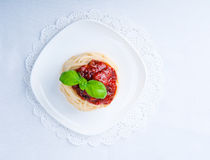 Makaron z pomidorowym kumberlandem Obraz Royalty Free
