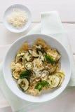 Makaron z zucchini Obrazy Stock