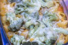 Makaronowa potrawka z brokułami Obraz Royalty Free