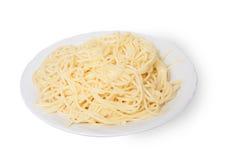 makaronowy makaronu talerza spaghetti Obrazy Royalty Free