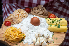 Makaronu i ciasta składniki Fotografia Stock