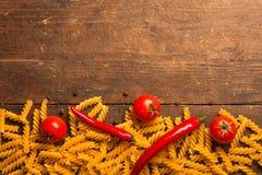 Makaronu kulinarny tło Zdjęcie Stock