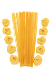 makaronu spaghetti tortellini Obraz Stock