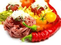 makaronu włoski tagliatelle Fotografia Stock