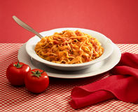 makaronu włoski tagliatelle Zdjęcie Stock