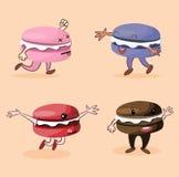 Makaroon-Charaktere Stockfotos