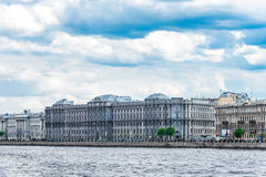 Makarov embankment in St.Petersburg Royalty Free Stock Photography